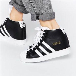 Adidas Superstar Concealed Wedge High Top Sneakers